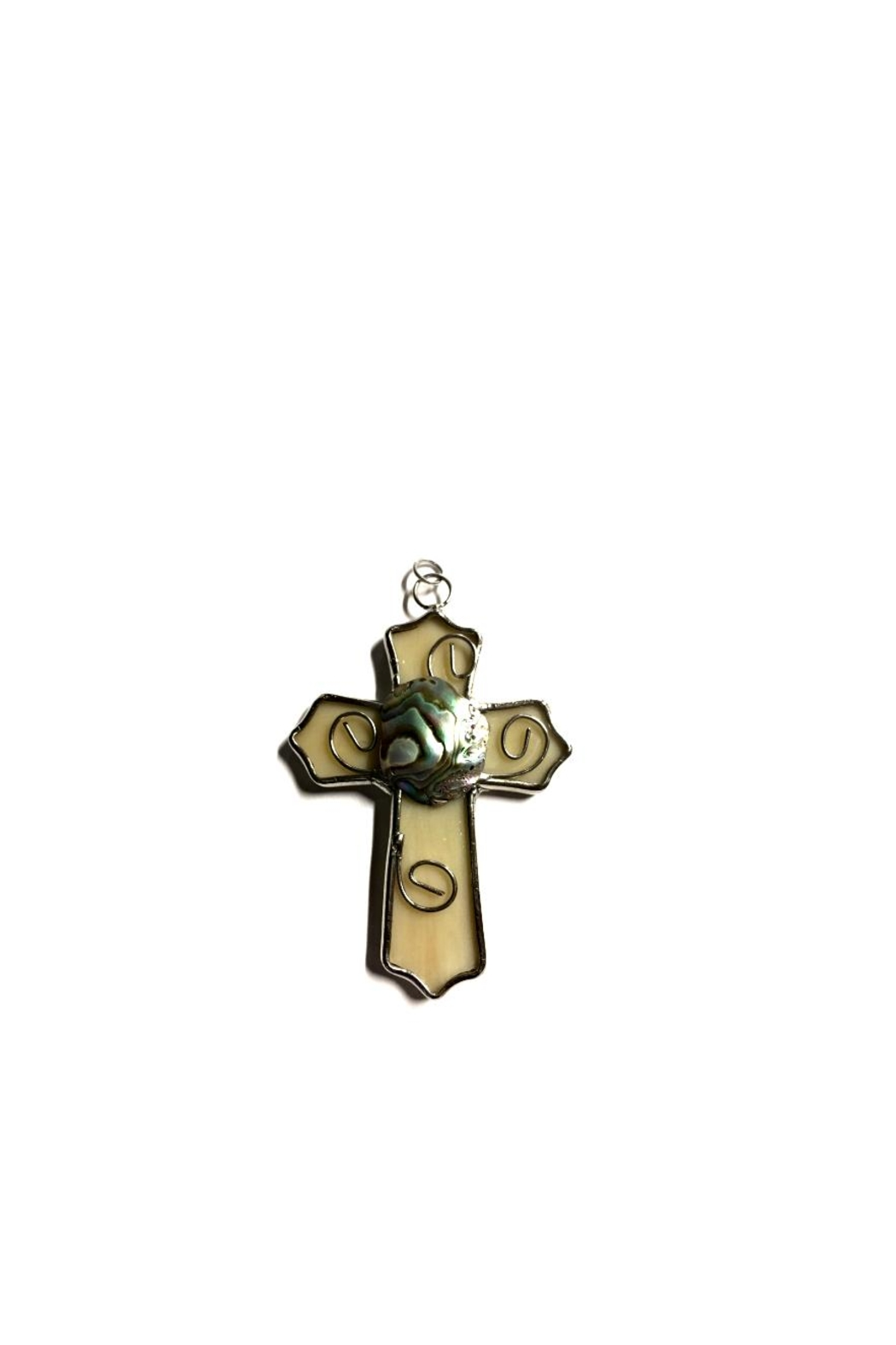 Love's Hangover Creations Abalone Cross Pendant - Main Image