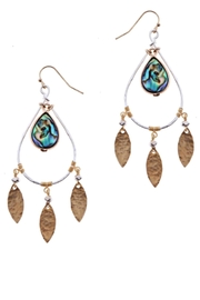 NAKAMOL CHICAGO Abalone Dangle Earrings - Product Mini Image