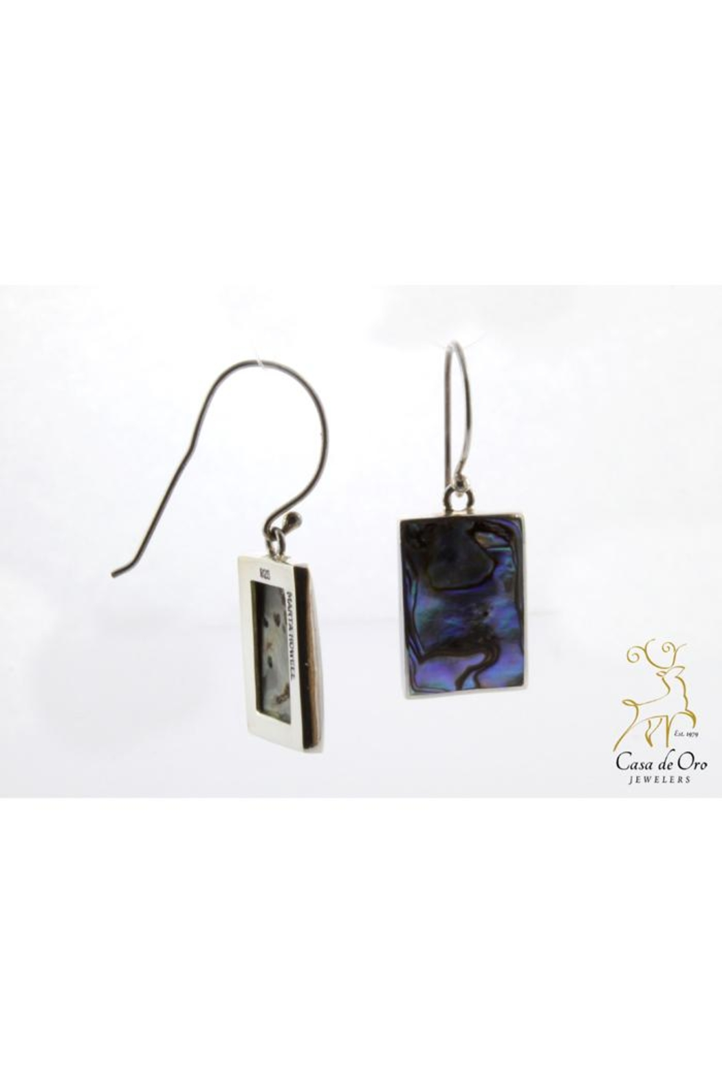 CDO  Abalone Earrings Sterling - Main Image