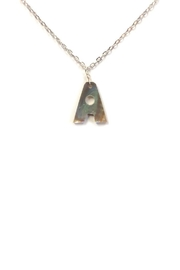 Lets Accessorize Abalone Initial Necklace - Product Mini Image
