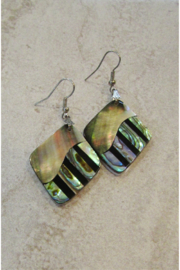 Bamboo Source ABALONE & MOTHER OF PEARL DIAMOND-SHAPE EARRING - Product Mini Image
