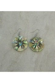 Bamboo Source ABALONE & MOTHER OF PEARL ROUND EARRING - Product Mini Image