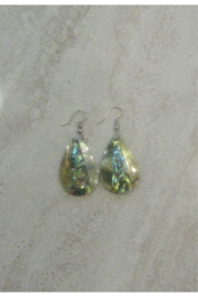 Bamboo Source ABALONE & MOTHER OF PEARL TEARDROP EARRING - Product Mini Image