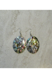 Bamboo Source ABALONE OVAL EARRING - Product Mini Image