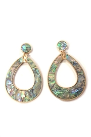 Wona Trading Abalone Tear-Drop Earrings - Front cropped