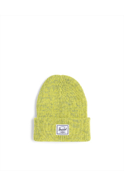 Herschel Supply Co. Abbott Reflective Beanie - Lime Punch - Front cropped