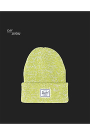 Herschel Supply Co. Abbott Reflective Beanie - Lime Punch - Front full body