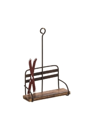 Abbott Collection Chairlift & Ski Ornament - Front cropped