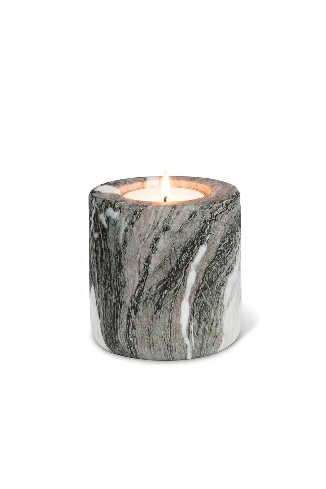 Abbott Collection Stone Finish Tealight Holder - Front Cropped Image