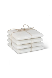 Abbott Collection White Marble Coasters - Product Mini Image