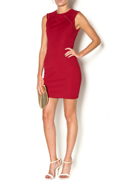Abby & Taylor Burgundy Sleeveless Dress - Front full body