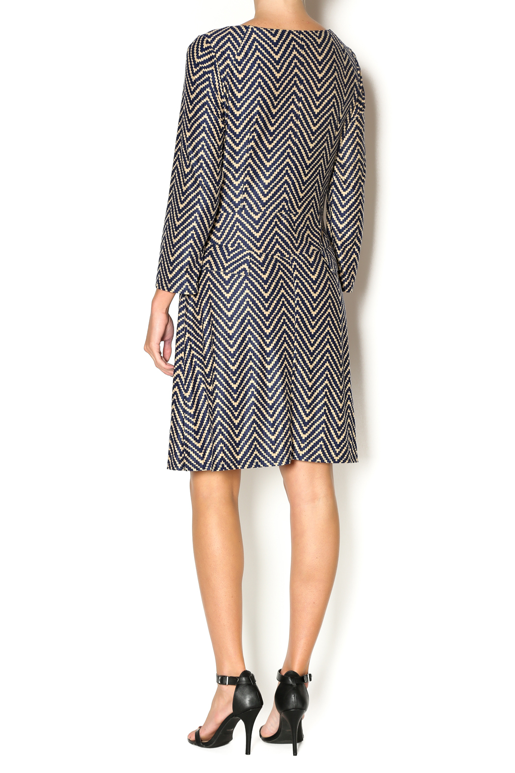 Abby & Taylor Zig Zag Dress - Side Cropped Image
