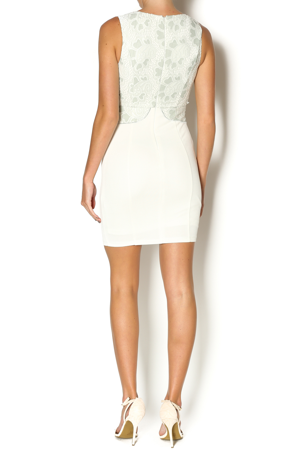 Abby & Taylor Sage Lace Top Dress - Side Cropped Image