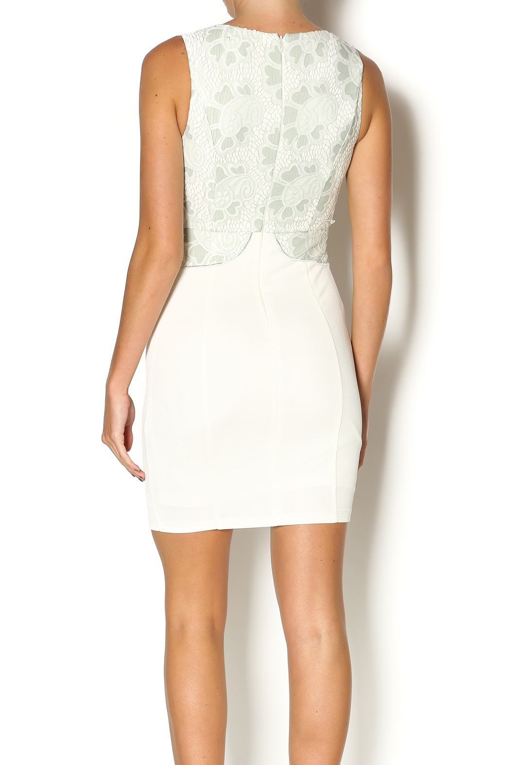 Abby & Taylor Sage Lace Top Dress - Back Cropped Image