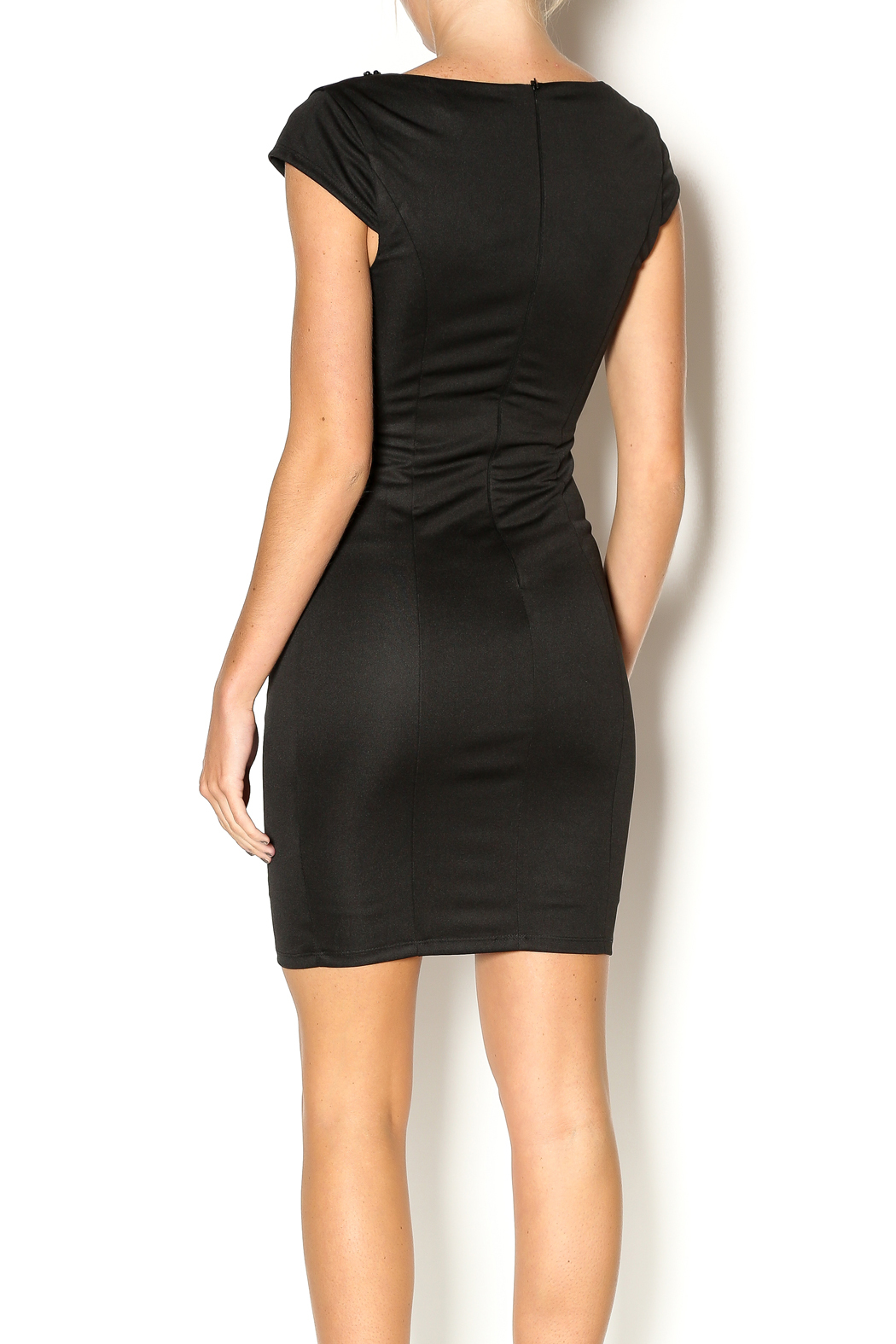 Abby & Taylor Sweetheart Neckline Dress - Back Cropped Image