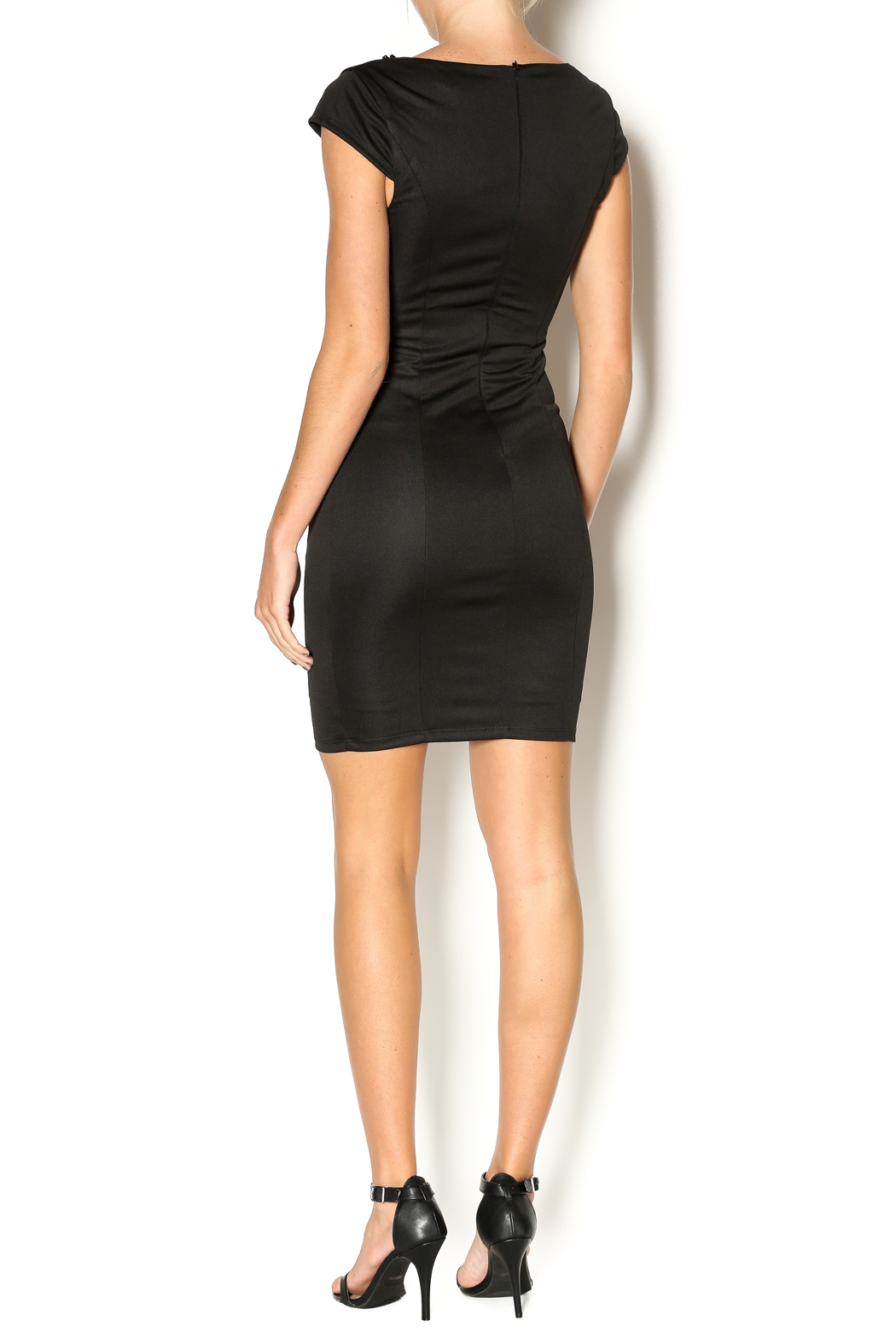 Abby & Taylor Sweetheart Neckline Dress - Side Cropped Image