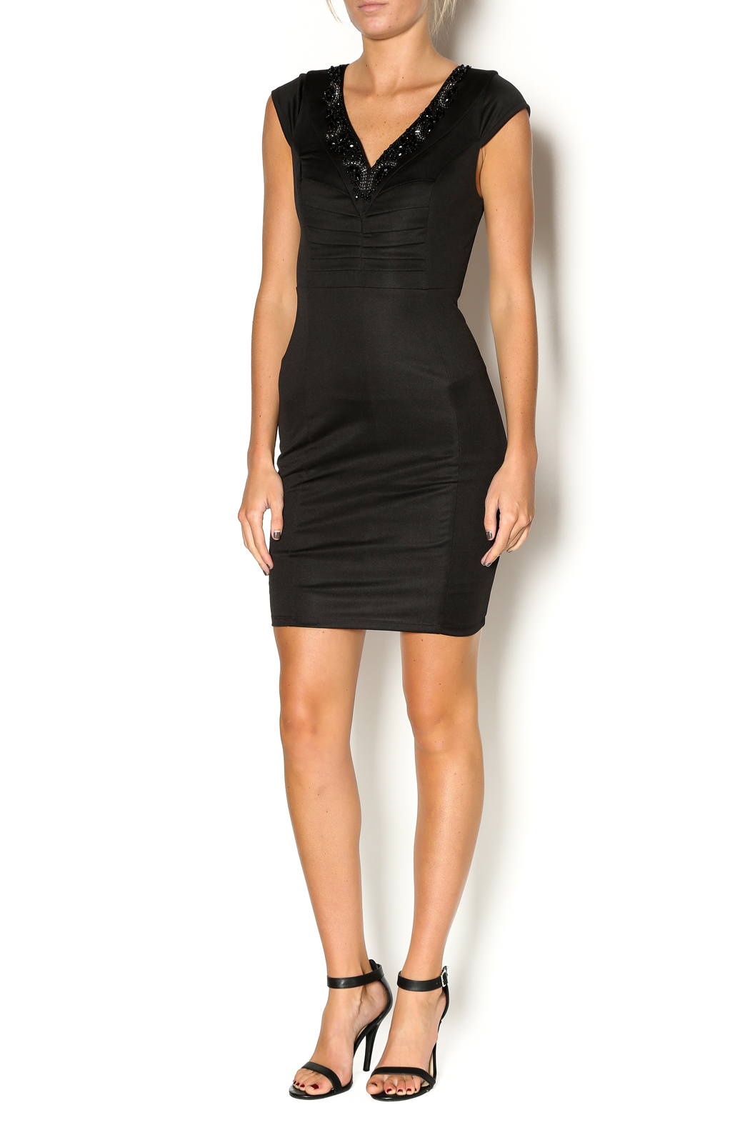 Abby & Taylor Sweetheart Neckline Dress - Front Full Image