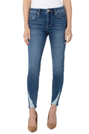 Liverpool Abby Ankle Skinny With Shredded Hem - Product Mini Image