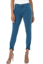 Liverpool  Abby Crop Skinny Front Scallop - Product Mini Image