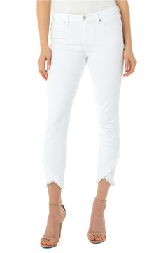 Liverpool Abby crop skinny front scallop - Product List Image