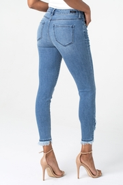 Liverpool Abby Crop Skinny with Front Scallop Hem - Side cropped