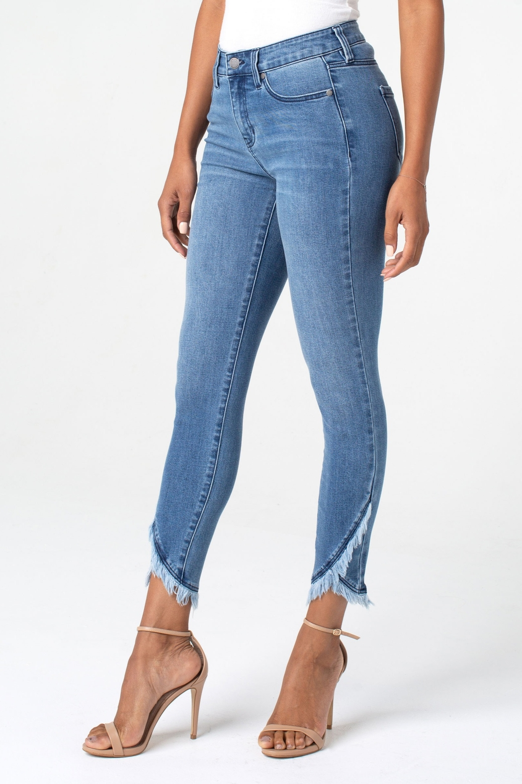 Liverpool Abby Crop Skinny with Front Scallop Hem - Main Image