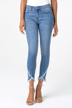 Liverpool Abby Crop Skinny with Front Scallop Hem - Alternate List Image