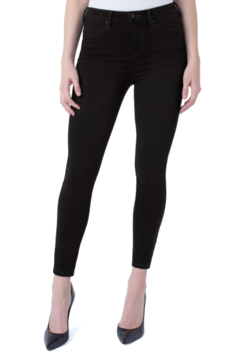 Shoptiques Product: Abby Hi-Rise Ankle Skinny Jean in Black Rinse