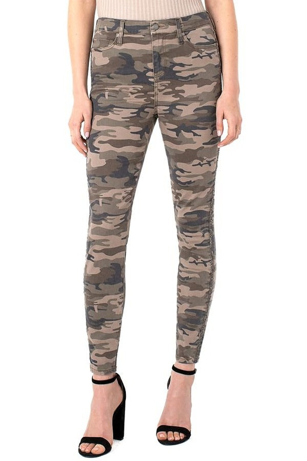Liverpool  Abby Hi-Rise Ankle Skinny - Front Cropped Image