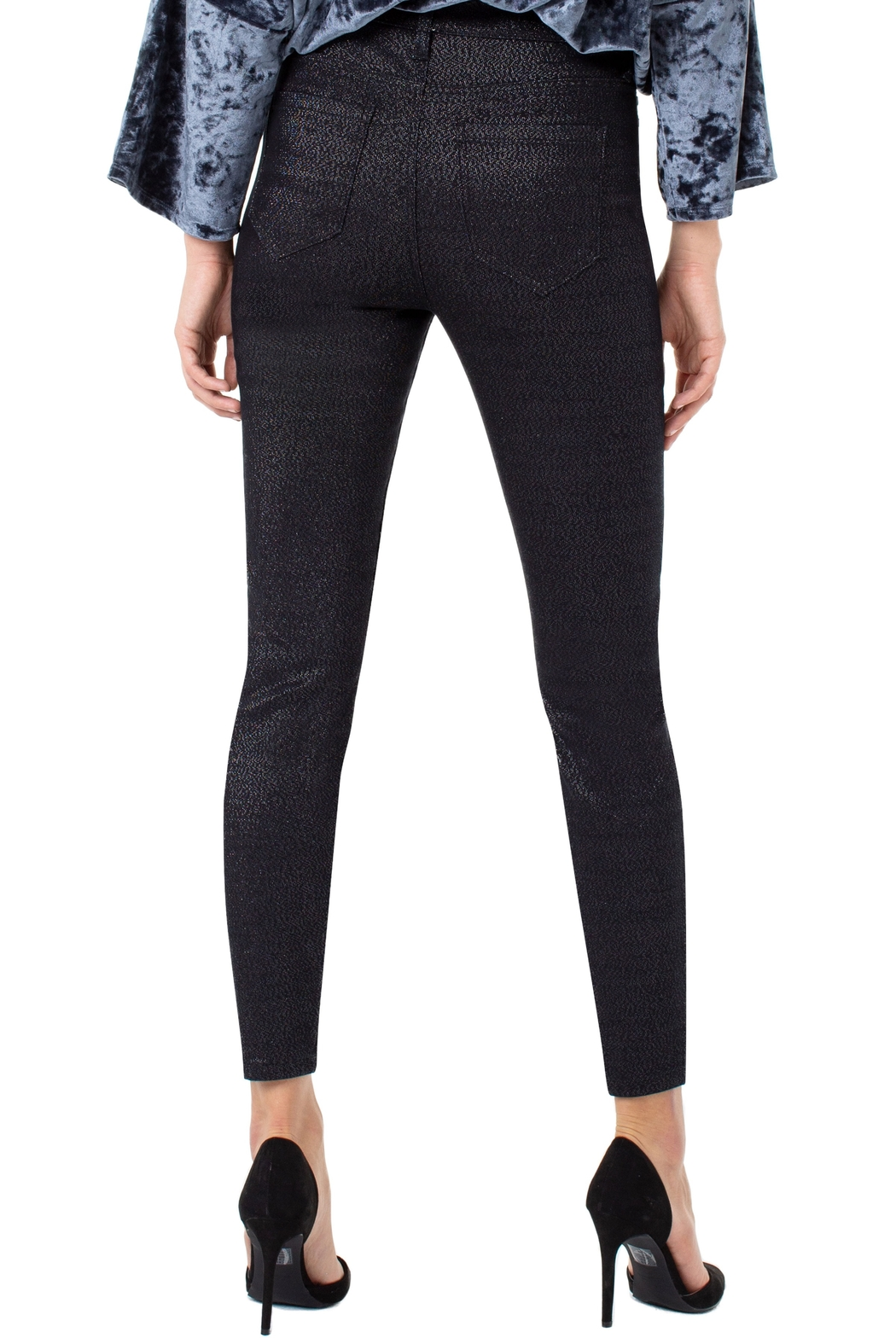 Liverpool  Abby Hi-Rise Sparkle Denim - Side Cropped Image