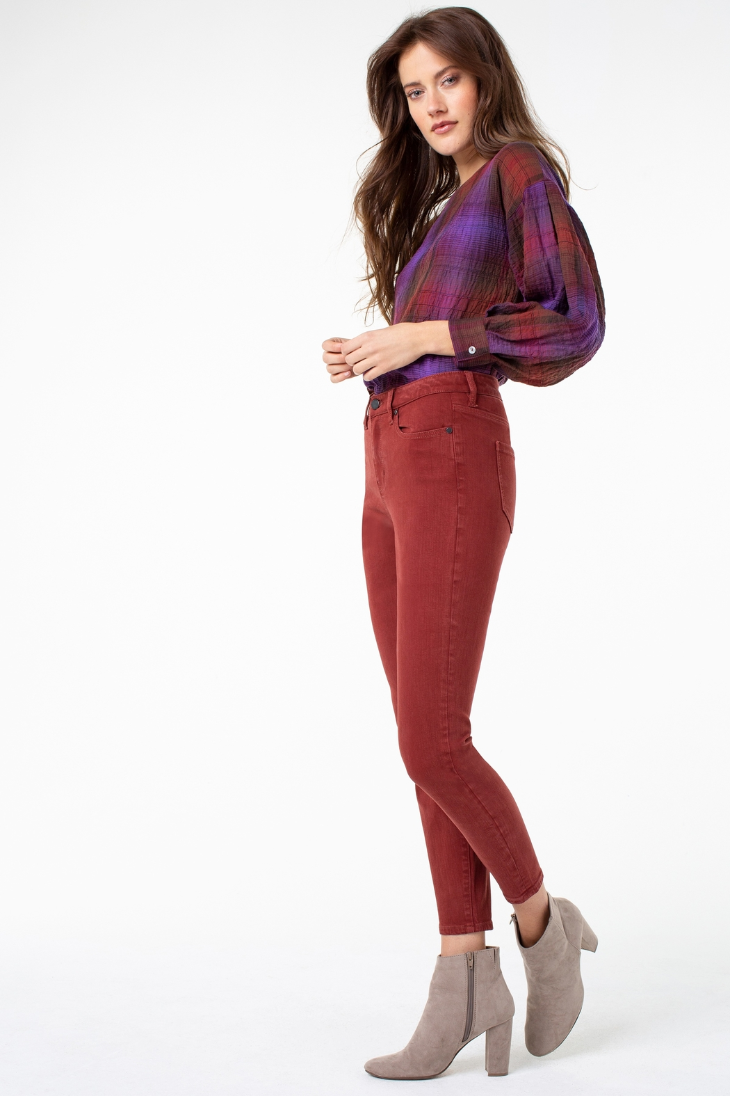 Liverpool  Abby High Rise Ankle Skinny - Front Full Image