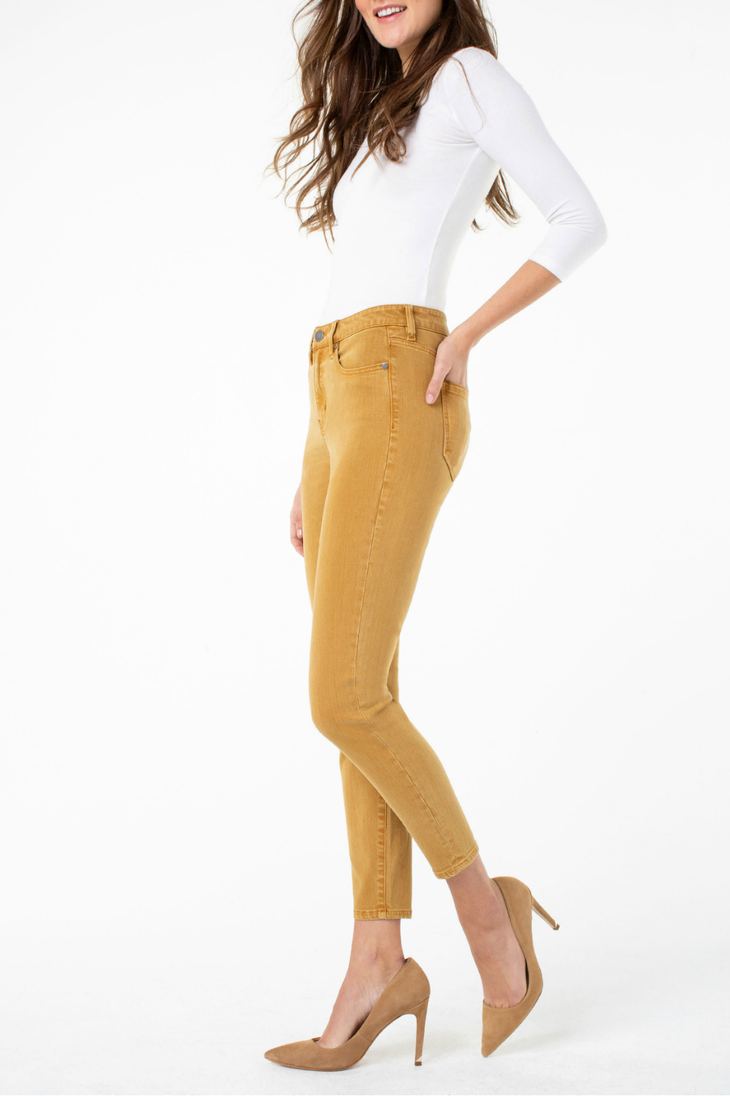 Liverpool Highrise Skinny Jeans - Front Full Image