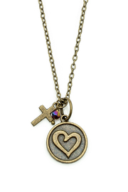 Abby Lane Heart Necklace - Back cropped