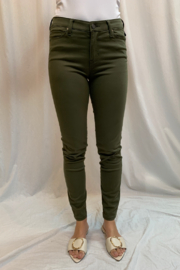 Liverpool  Abby Skinny Jeans in Stretch Peached Satin in Currant - Product Mini Image