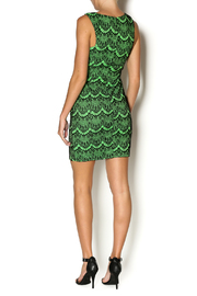 Abby& Taylor Black Lime Lace Dress - Side cropped
