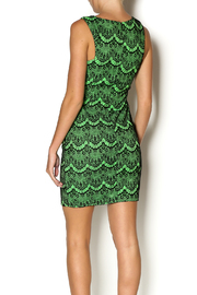 Abby& Taylor Black Lime Lace Dress - Back cropped