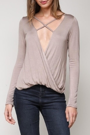 blue blush Abby Top - Product Mini Image