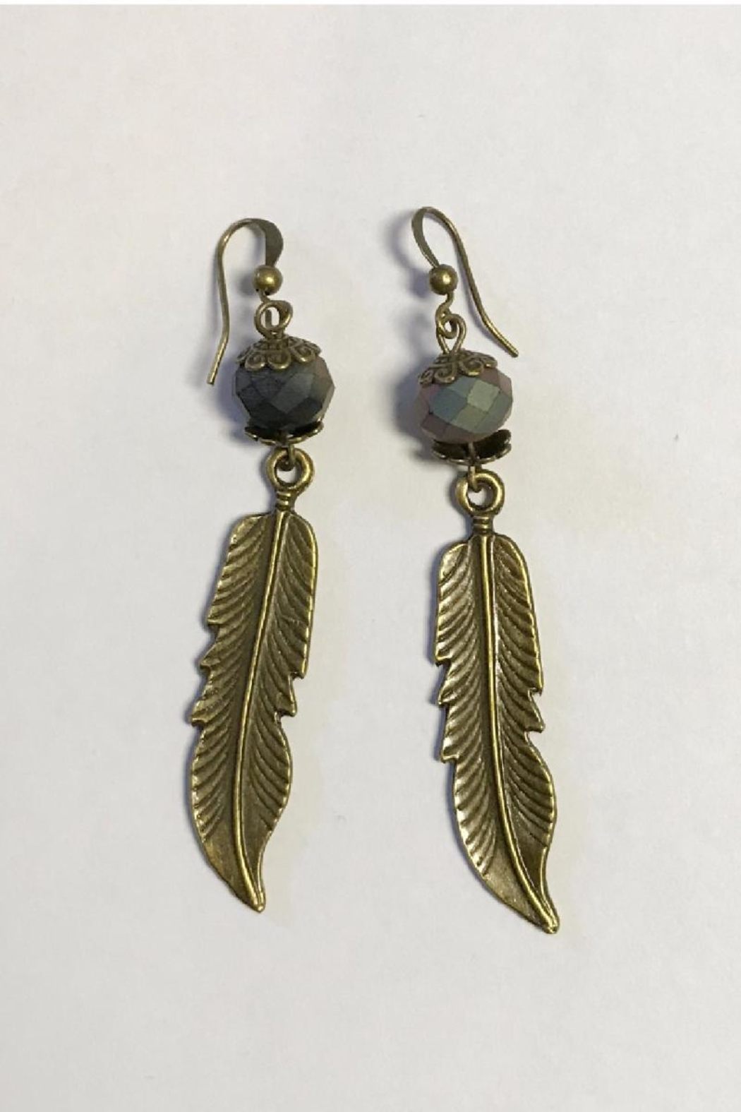 Abby Lane Bronze Feather Earrings - Main Image