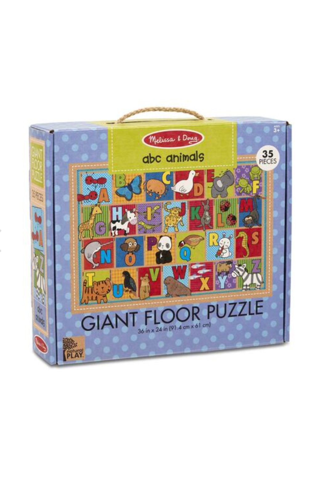 Melissa and Doug ABC Animals Giant Floor Puzzle - Main Image