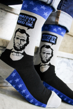 Foot Traffic Abe Lincoln Socks - Product List Image