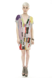 Shoptiques Product: Brush-Print Tunic - Front full body