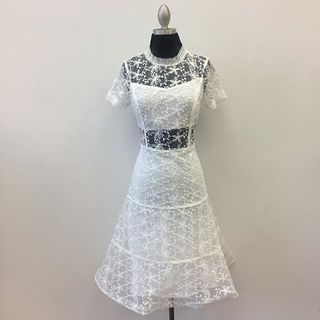 Shoptiques Floral Embroidered Dress