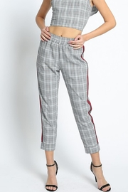 Toska Side-Tape Plaid Pants - Product Mini Image