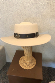 Peter Grimm Abela Western Hat - Front full body