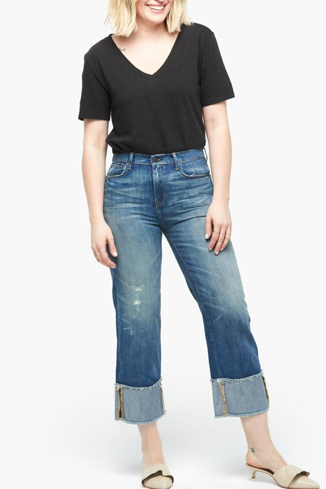 Able Distressed Cropped Jeans - Main Image