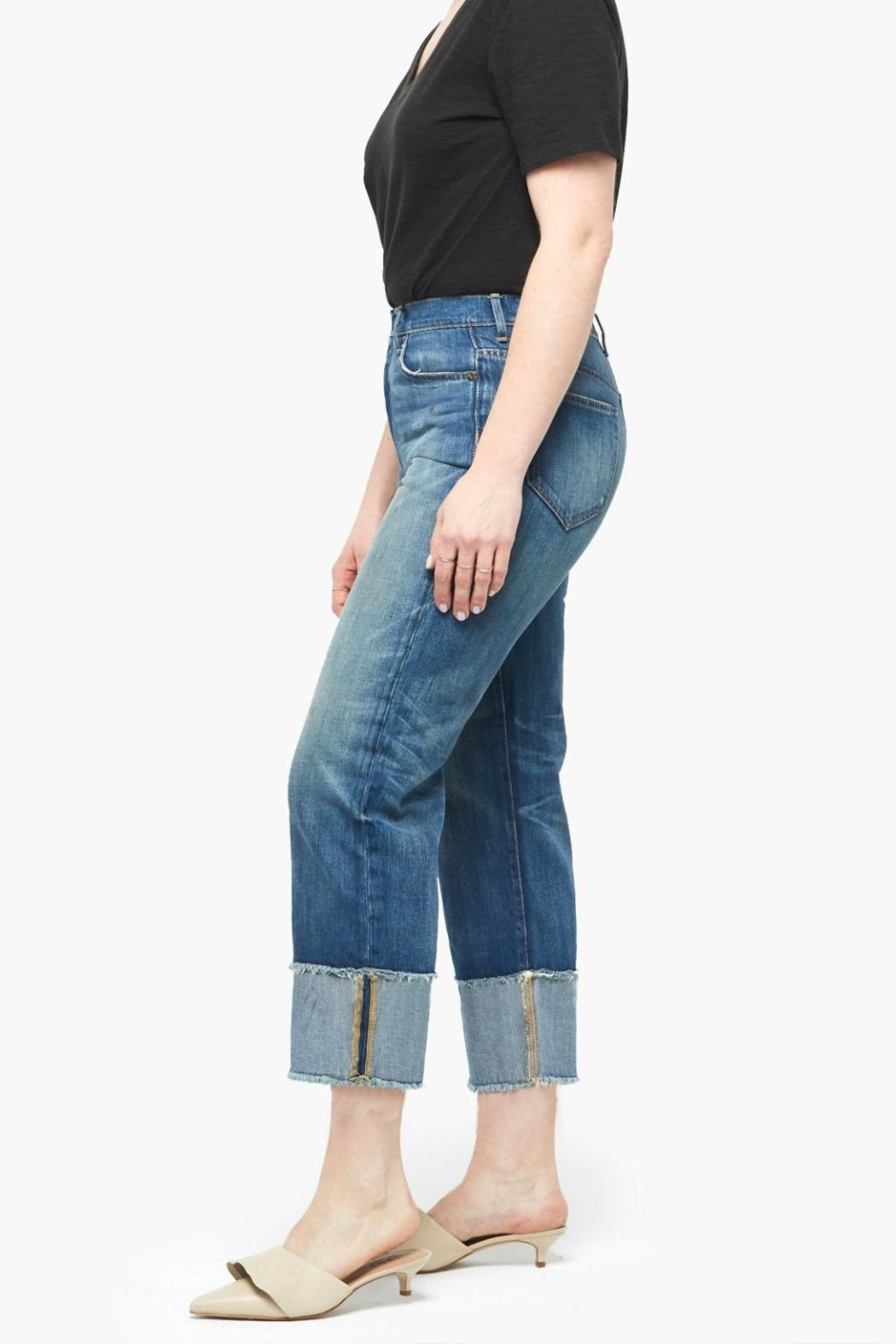 Able Distressed Cropped Jeans - Front Full Image