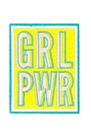 About Face Designs Grl Pwr Patch - Front cropped