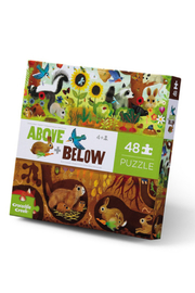 Crocodile Creek Above + Below  48 Piece Puzzle: Backyard Discovery - Front cropped