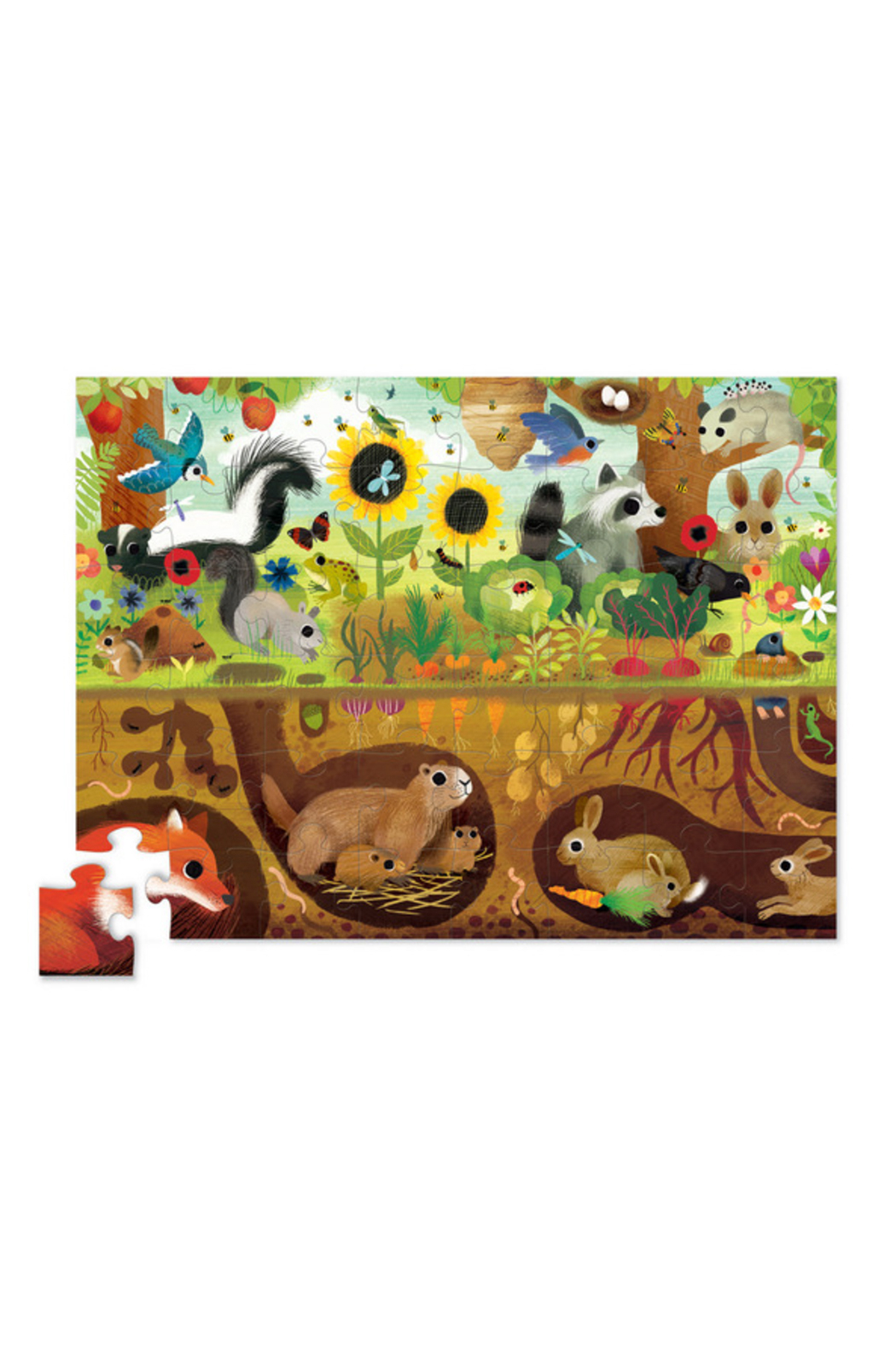 Crocodile Creek Above + Below  48 Piece Puzzle: Backyard Discovery - Front Full Image