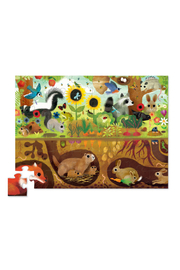 Crocodile Creek Above + Below  48 Piece Puzzle: Backyard Discovery - Front full body